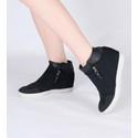 Tênis Siena Sneakers Biqueira e Manta Metálica Preto Salto 4,5 Cm