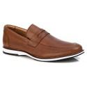 Sapato Loafer Premium em Couro Confort Tchwm Shoes Castor