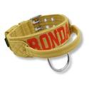 Coleira Para Cachorro Com Alça - Personalizada / bege (areia) com bordado vermelho