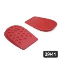 Calcanheira Para Conforto De Látex Vermelho 39/41 g