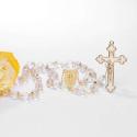 Terço Noiva Cristal- Dourado