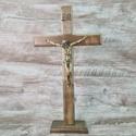 Crucifixo Mesa e Parede -Madeira 35 cm