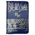 Bíblia Sagrada Edição Pastoral - Média Zíper Azul