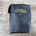 Capa em couro Liturgia das Horas - Preta Volume II