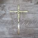 Crucifixo de Parede Estilizado Dourado 19x32 Copia