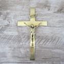 Crucifixo de Parede 12X22 Dourado (ref 42 )