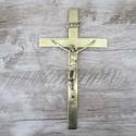 Crucifixo de Parede 15X26 Dourado (ref 37)