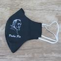 Máscara em Tecido - São Padre Pio Preto
