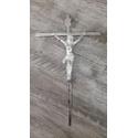 Crucifixo de Parede Estilizado -Prata 19x32