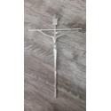 Crucifixo de Parede Estilizado - Prata 20x30