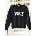 Blusa de Moletom Vogue Preto