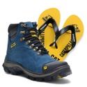 Bota 2160 - Azul + Chinelo Amarelo