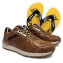 Tênis WoodWard - Cevada + Chinelo Amarelo