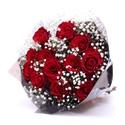 Buque 12 rosas red
