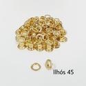Ilhós com arruela n° 45 - Dourado (pacte 50 unidades de cada)