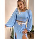 Blusa Cf Bufante Azul Azul