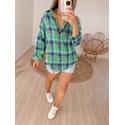Camisa Xadrez Verde Verde