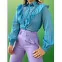 Camisa Aline Azul Azul