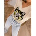 Tshirt Tigre Lurex Amarelo Amarelo
