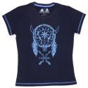 Camiseta Feminina CAVALARIA 100% Algodão Azul Marinho