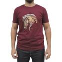 Camiseta CAVALARIA Bordo com detalhes Mesclado
