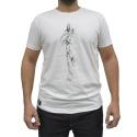 Camiseta CAVALARIA Bege com detalhes Marrom