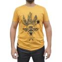 Camiseta CAVALARIA Mostarda com detalhes Preto
