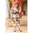 Vestido Chemise Estampa Tropical - Plus Size