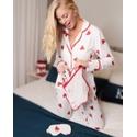 Pijama Nah Branco com Corações