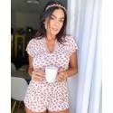 Pijama Lívia Onça Rosa