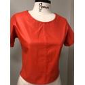T-shirt de Couro Feminino Coral