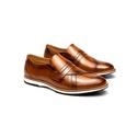 Sapato Casual Richard Whisky em Couro