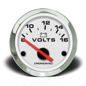 Voltimetro 52mm 12V Croma – Branco