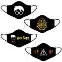 Kit 4 Máscara Lavável Personalizada Harry Potter Tecido Duplo