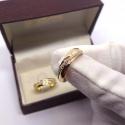 Aliança em Ouro 18k 750 Coração Vazado Lateral Cravejado
