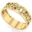 Anel de Formatura em Ouro Direito Trabalhado com Pedras