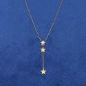 Gargantilha em Ouro 18k com Estrelas