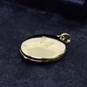 Relicário em Ouro 18k Oval com a Letra Fosca