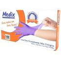 Luva Nitrílica Sem Pó Descartável Para Procedimento Não Cirúrgico Azul violeta- Cx C/ 100Un - Medix