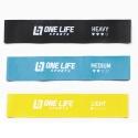 Kit Mini Band Em Latex Com 3 Níveis de Resistência - One Life