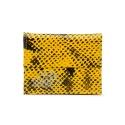 Carteira Masculina Couro Anaconda PB Amarelo