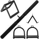 Kit Puxadores Musculação Academia Reto Triangulo Estribo e V