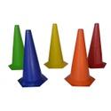 Kit 10 Cones Lisos 50 Cm Para treino Funcional de Agilidade e Coordenação