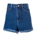 Carla - Shorts Jeans Escuro