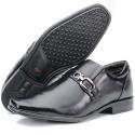 Calçado Sapato Social Masculino em Couro Preto Kéffor Linha Berlim