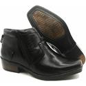 Calçado Masculino Bota Em Couro Kéffor Preto Linha Arizona Country