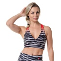 Top Feminino Rock Fit Abstract Lines