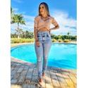 Calça Jeans Carmem - Cós duplo com lycra
