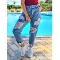 Calça Jeans Zoe Mom - Rasgada