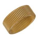 Anel Mola Aço Inoxidável Dourado